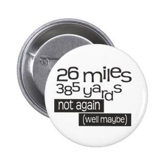 Maratón divertido 26 millas 385 yardas pin