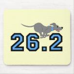 Maratón divertido alfombrillas de ratón