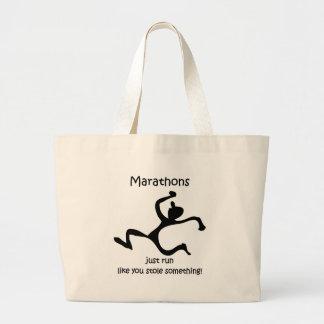 Maratón divertido bolsa tela grande