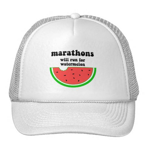 Maratón divertido de la sandía gorras