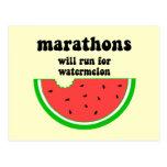 Maratón divertido de la sandía postales