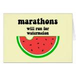 Maratón divertido de la sandía tarjeta