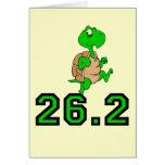 Maratón divertido de la tortuga felicitación