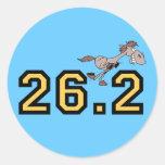 Maratón divertido del caballo etiqueta redonda