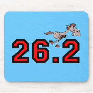 Maratón divertido del caballo tapetes de ratones