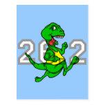 Maratón divertido del dinosaurio postal