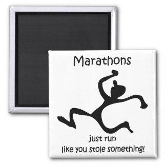 Maratón divertido iman para frigorífico