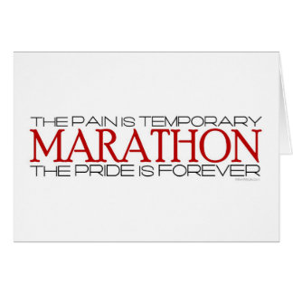 Maratón - el orgullo es Forever Tarjeta De Felicitación