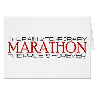 Maratón - el orgullo está para siempre - buena sue tarjeta de felicitación