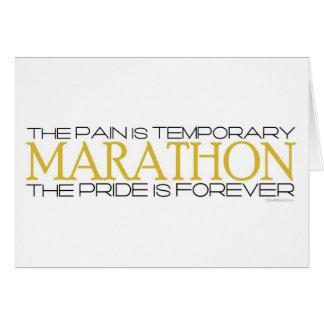 Maratón - el orgullo está para siempre - enhorabue tarjeta de felicitación