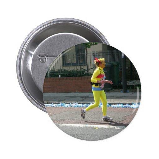 Maratón en Londres Pin Redondo De 2 Pulgadas