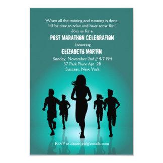 Maratón funcionado con - invitación del fiesta del invitación 8,9 x 12,7 cm
