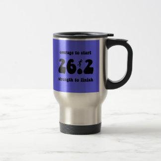 Maratón inspirado taza de viaje