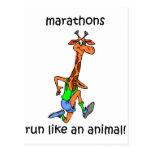 Maratón lindo y divertido postal