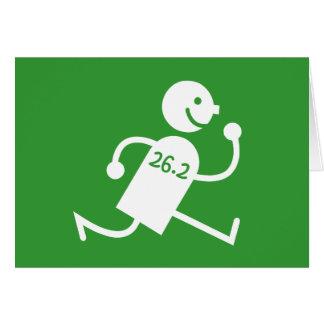 Maratón lindo y divertido tarjeta
