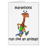 Maratón lindo y divertido tarjetón