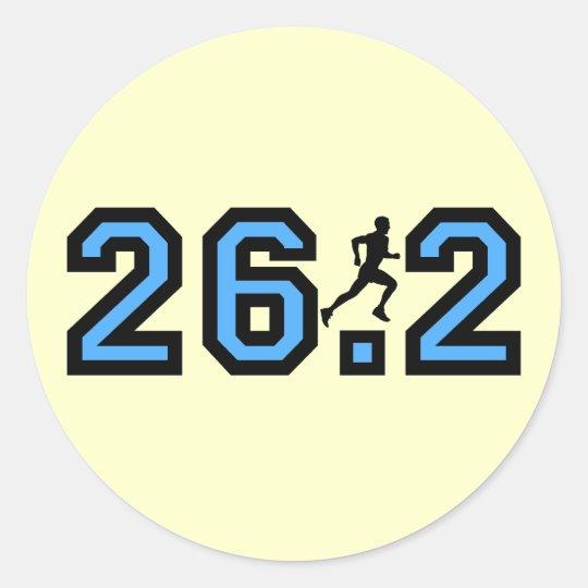 Maratón para hombre pegatina redonda