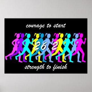 maratón para mujer póster