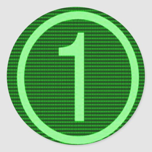 Maratón verde de NumberONE Pegatinas Redondas