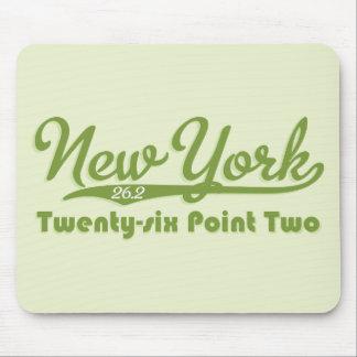 Maratón verde Mousepad de Nueva York 26,2
