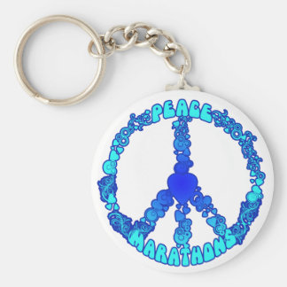 Maratones del amor de la paz llaveros personalizados