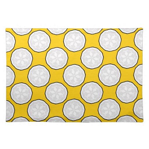 Maravilla amarilla y regalo blanco de Placemat del Mantel