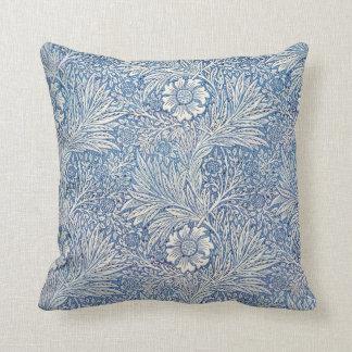 Maravilla azul de William Morris Cojín