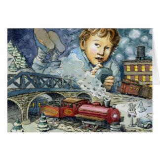 """Maravilla como usted vaga"" tarjeta de Navidad"