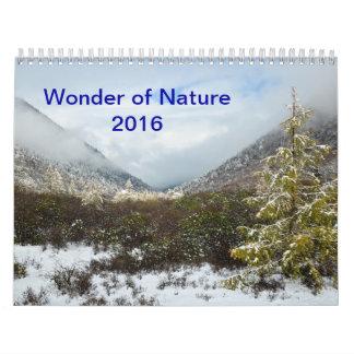 Maravilla de la naturaleza calendario de pared