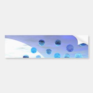 Maravilla del claro de luna, viaje abstracto al de etiqueta de parachoque