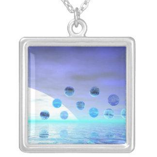 Maravilla del claro de luna viaje abstracto al de collares personalizados