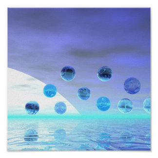 Maravilla del claro de luna, viaje abstracto al de posters