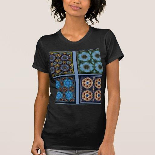 Maravilla del collage del caleidoscopio camisetas