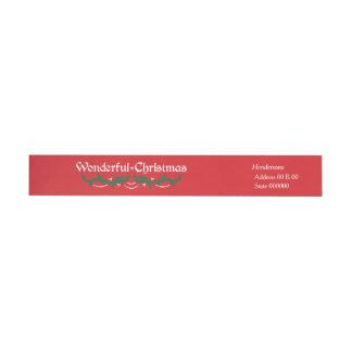 Maravilla del invierno (roja) etiquetas para remite