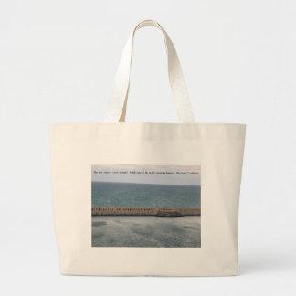 Maravilla del mar bolsa tela grande