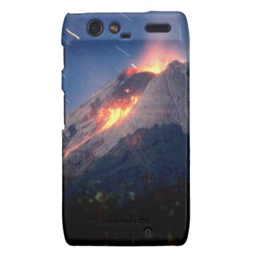 Maravilla natural del volcán droid RAZR fundas