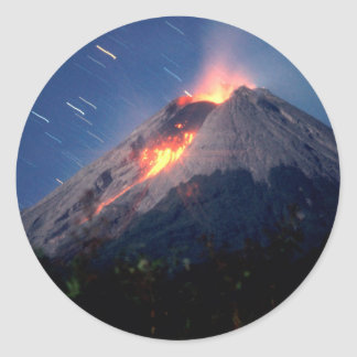 Maravilla natural del volcán pegatina redonda