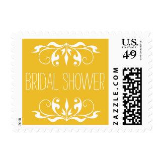 Maravilla nupcial y blanco de la ducha del sello postal
