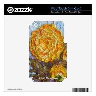 Maravillas amarillas calcomanía para iPod touch 4G