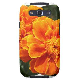 Maravillas anaranjadas florecientes samsung galaxy s3 protector