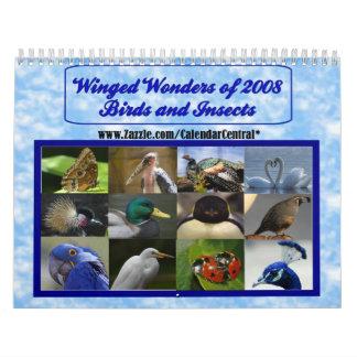 Maravillas coas alas de 2008 calendarios de pared