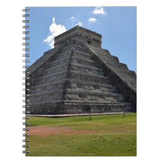 Maravillas de la pirámide 7 de Chichen Itza México Libretas Espirales
