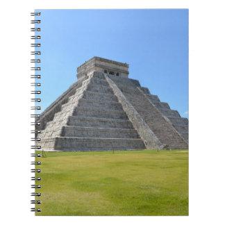 Maravillas de la pirámide 7 de Chichen Itza México Libros De Apuntes Con Espiral