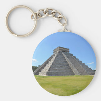 Maravillas de la pirámide 7 de Chichen Itza México Llavero Redondo Tipo Pin