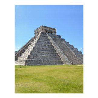 Maravillas de la pirámide 7 de Chichen Itza México Membrete