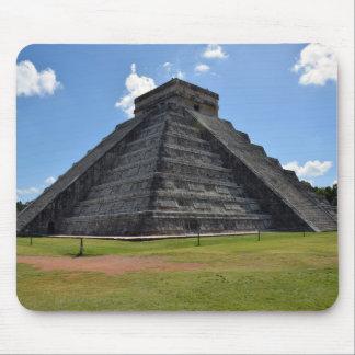 Maravillas de la pirámide 7 de Chichen Itza México Mouse Pad