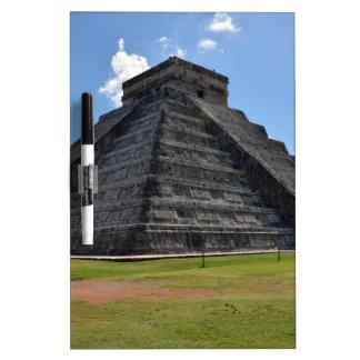 Maravillas de la pirámide 7 de Chichen Itza México Pizarra Blanca