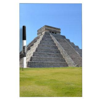 Maravillas de la pirámide 7 de Chichen Itza México Pizarras Blancas De Calidad