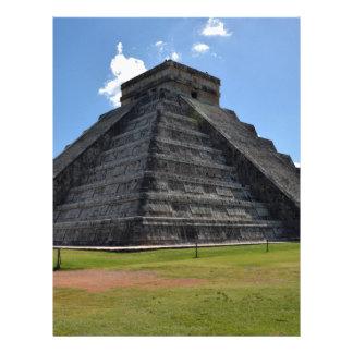 Maravillas de la pirámide 7 de Chichen Itza México Plantilla De Membrete
