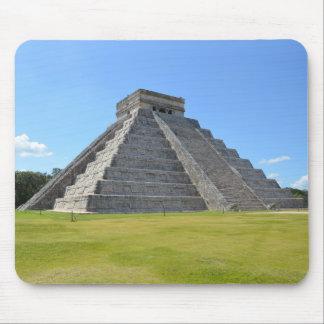 Maravillas de la pirámide 7 de Chichen Itza México Tapetes De Ratón